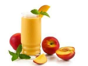 sliding peach-smoothie-with-yogurt