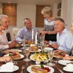 mature dinner party