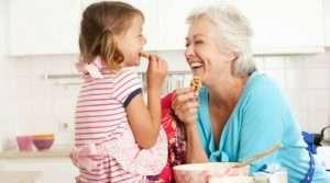 Baking with grandkids