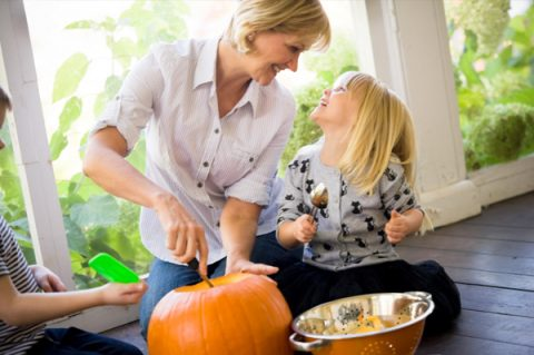 cooking pumpkin kids